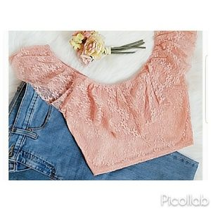 """Pretty in Pink"" crop top"